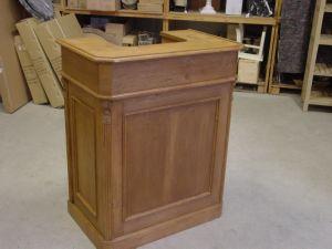Comptoir pin massif en vieux bois for Meuble bar comptoir conforama
