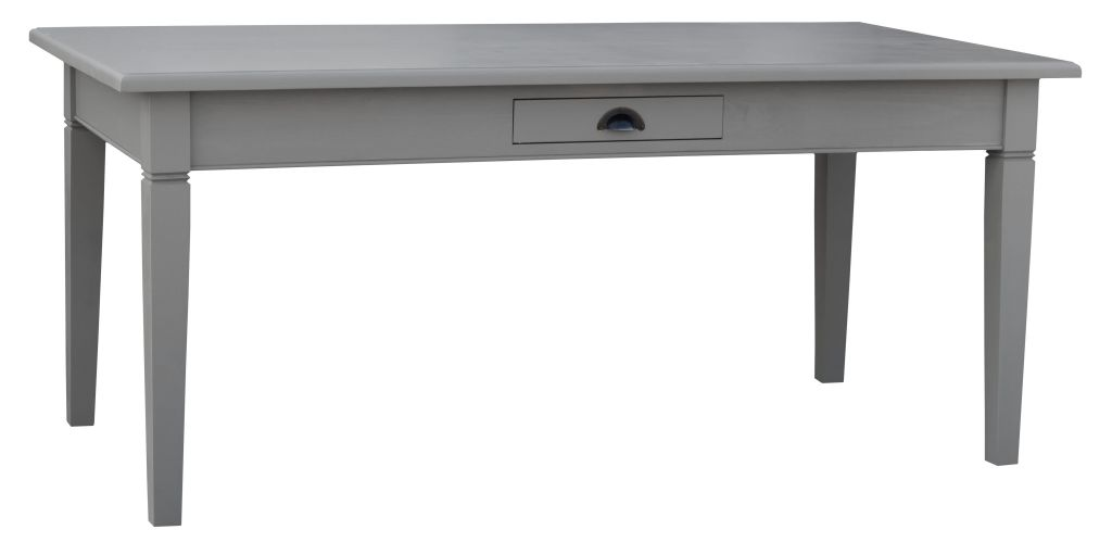 table rectangulaire en pin massif. Black Bedroom Furniture Sets. Home Design Ideas