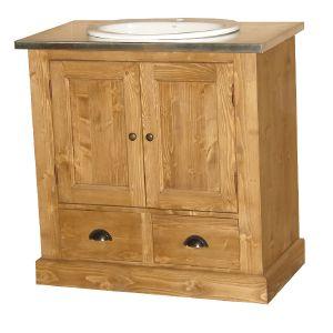 meuble de salle de bain en pin massif choix de l 39 ing nierie sanitaire. Black Bedroom Furniture Sets. Home Design Ideas