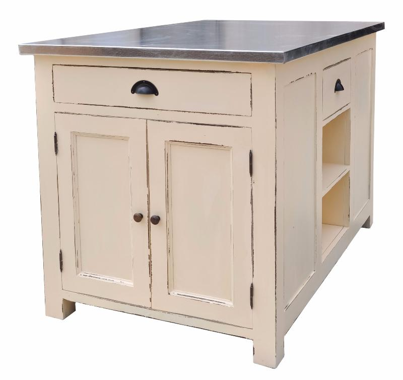 Meuble lot centre de cuisine en pin massif for Meuble cuisine ilot table