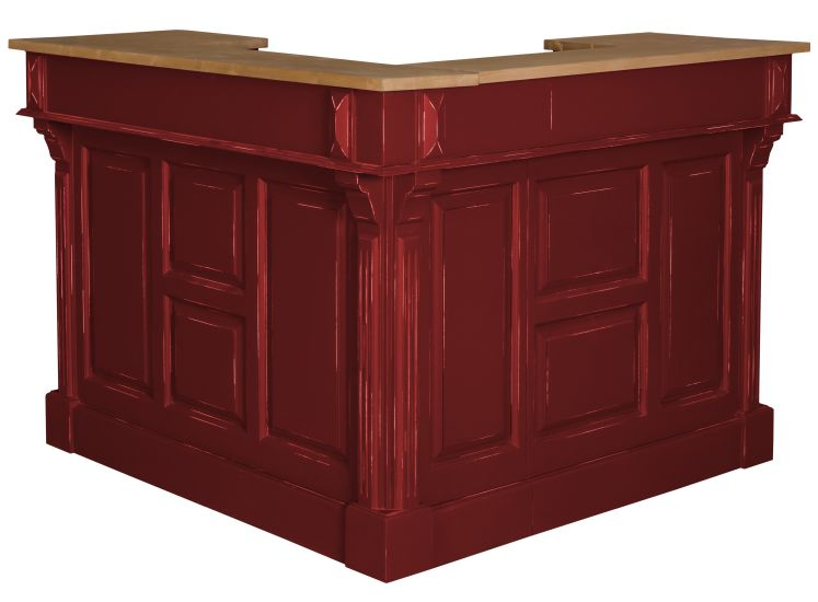 bar d 39 angle en pin massif. Black Bedroom Furniture Sets. Home Design Ideas