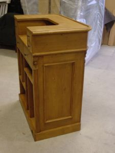 comptoir pin massif en vieux bois. Black Bedroom Furniture Sets. Home Design Ideas