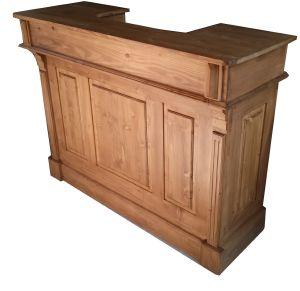 bar comptoir en bois ancien pin massif. Black Bedroom Furniture Sets. Home Design Ideas